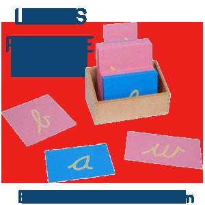 letras papel de lija El metodo montessori