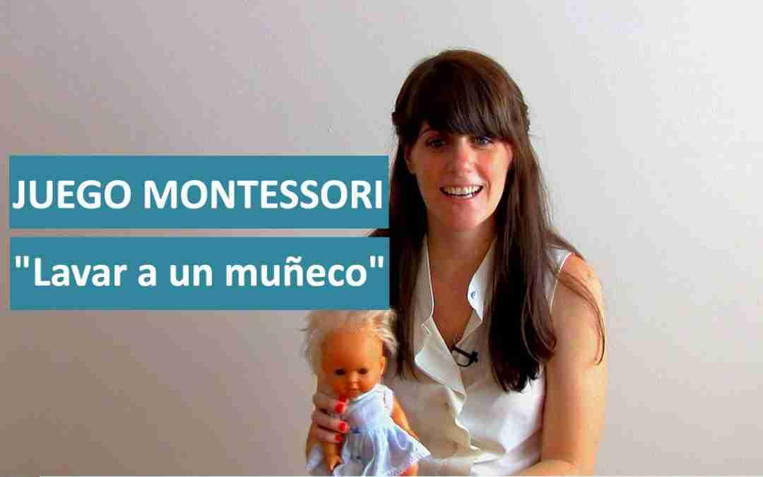 """Juego Montessori """"Lavar a un muñeco"""""""
