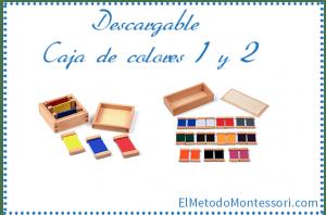 Caja de Colores Montessori Número 1 y 2
