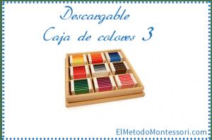 Caja de Colores Montessori Numero 3