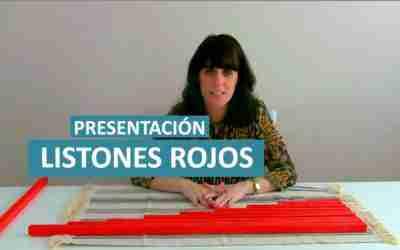Presentación de los Listones Rojos Montessori