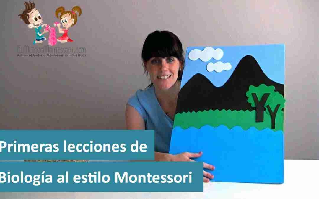 Primeras lecciones de Biología al estilo Montessori