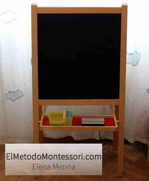 Zona de Artes en la Habitación Montessori