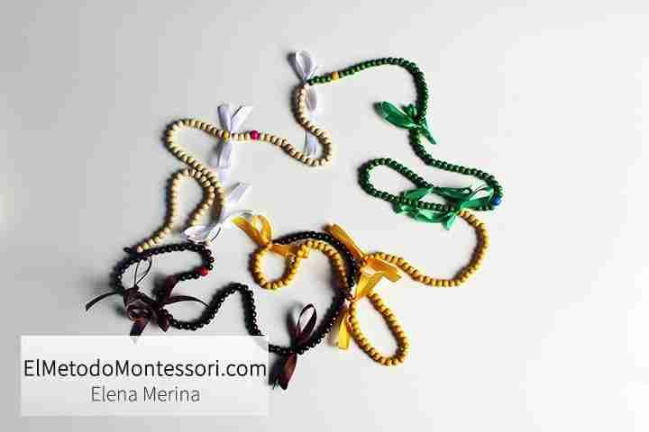 Calendario Montessori con Cadena de Cuerdas