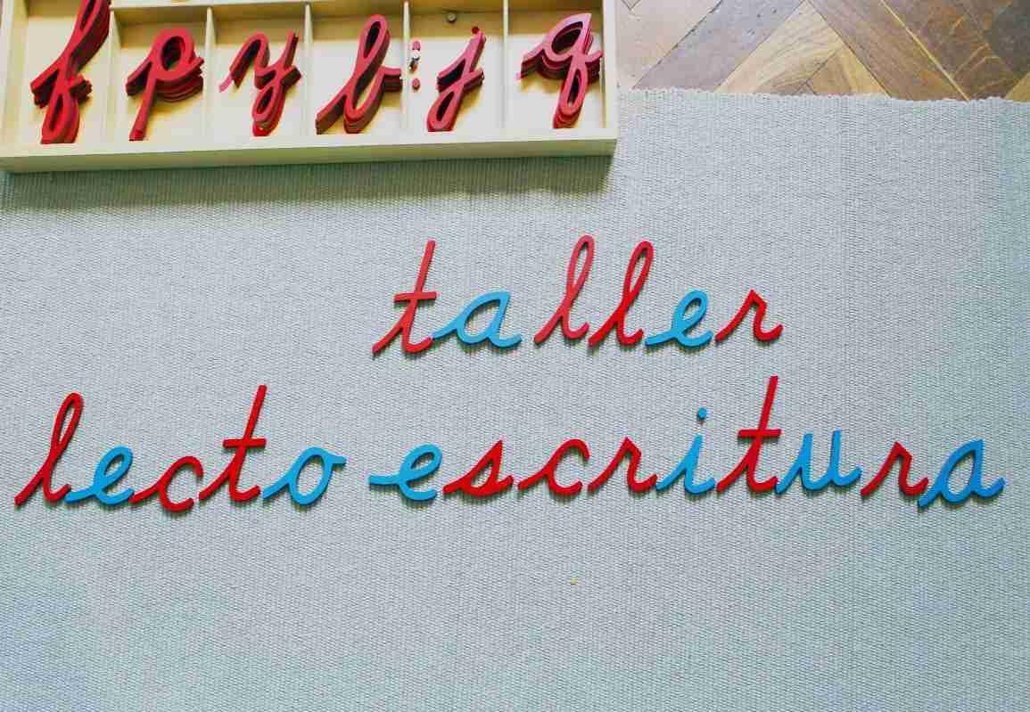 Taller Montessori de Lectoescritura