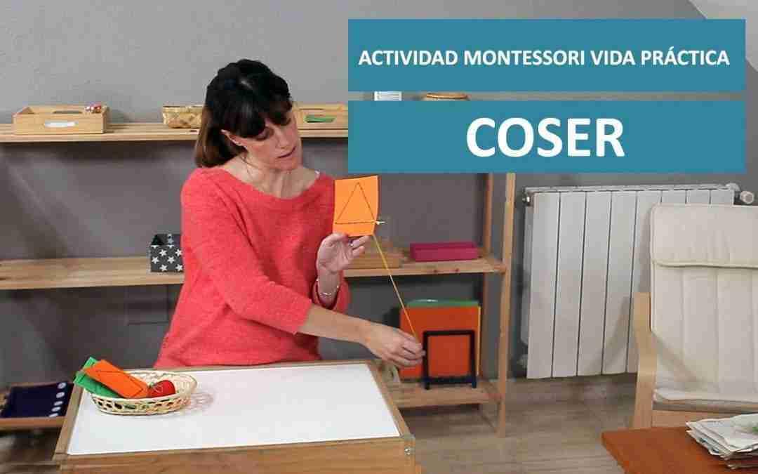 Actividad Montessori Vida Práctica. COSER