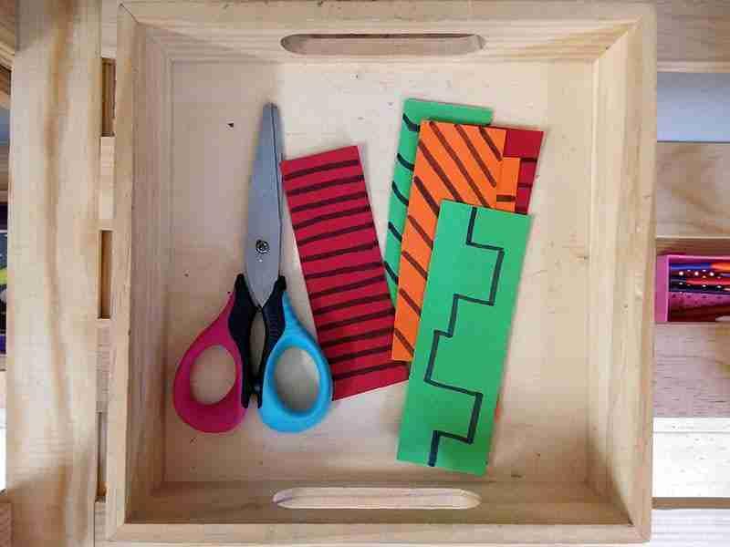 Actividad de recortar Montessori. actividad de arte para niños