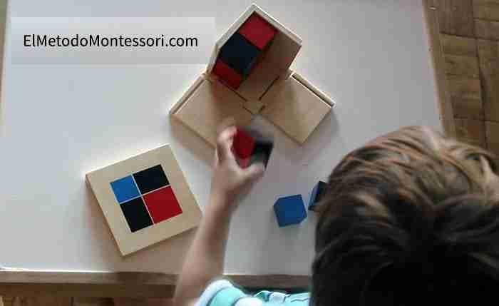 Cubo del Binomio - Matemáticas Montessori