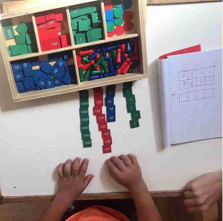 matematicas con montessori